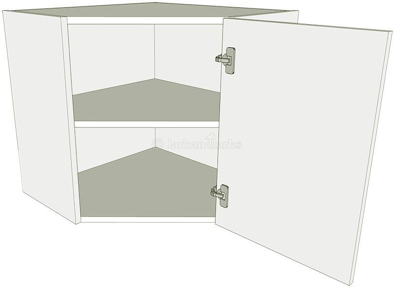 Diagonal corner kitchen wall unit low lark larks for Large kitchen wall units