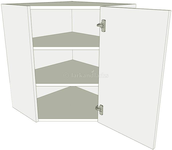 Diagonal corner kitchen wall unit tall lark larks for Full wall kitchen units