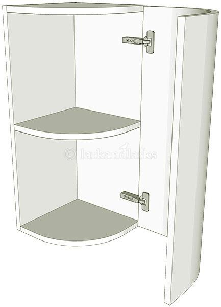Curved Kitchen Panel Door Wall Unit Medium