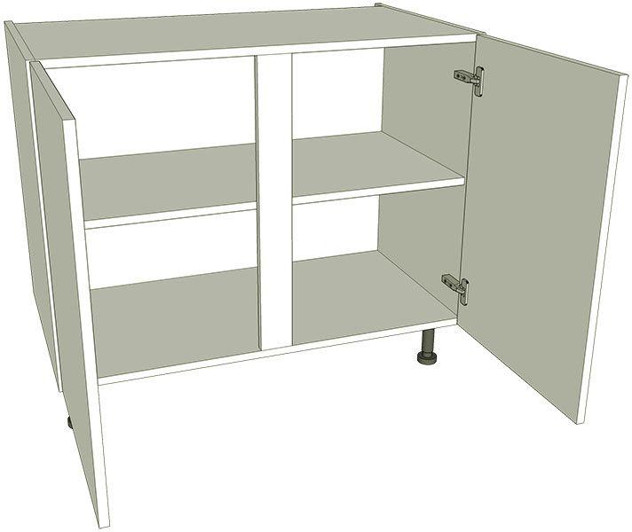 Kitchen double base unit flat pack lark larks for 800 kitchen drawer unit