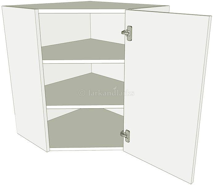 Kitchen diagonal corner wall unit flat pack lark larks for Full wall kitchen units