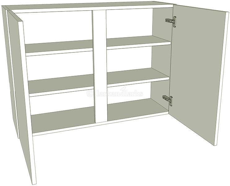 Kitchen double wall unit flat pack lark larks for Double kitchen base unit