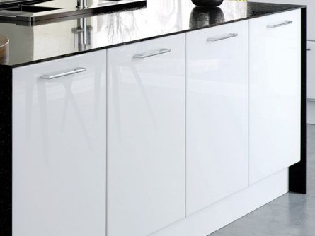 Slab Style Kitchen Cabinet Doors