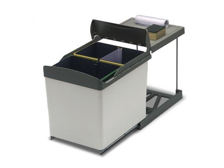 Automatic Double Bin with Divider - 42 Litres