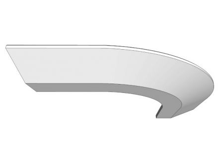 Broadoak Curved Cornice Section - Painted Range