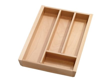 Single Drawer Beech Cutlery Tray