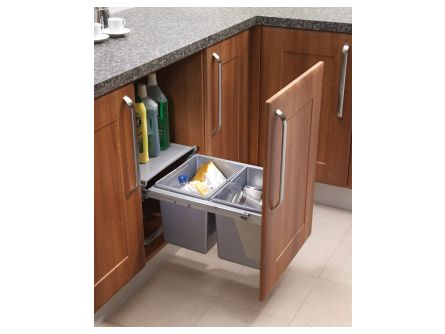 Pull Out Kitchen Waste Bins - 30 litres