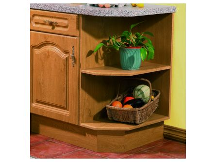 Bella Left Hand Base End Shelf Unit - vinyl finish
