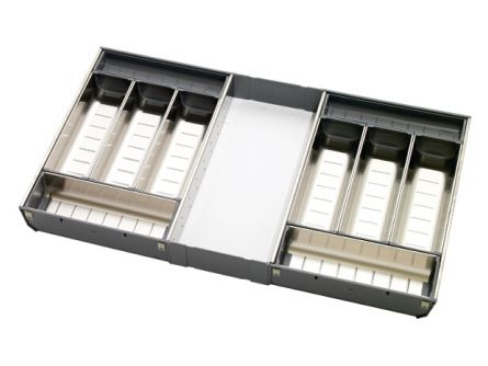 Double Drawer Cutlery Organiser