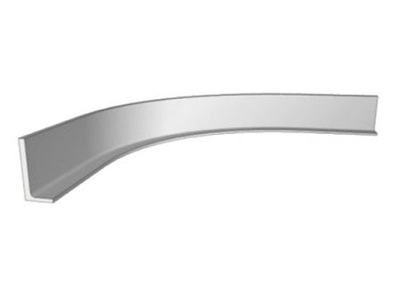 Top Rail True Handleless Concave Curved 900 x 900