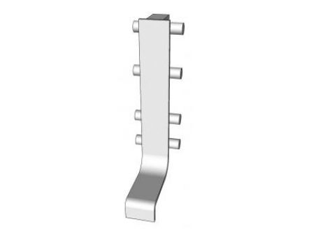 Top profile mid joint section for use in true handleless rail systems