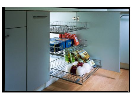 Adjustable Pull-Out Kitchen Baskets
