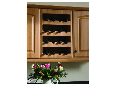 Bella 4 Bottle Plain Wine Rack Front Only
