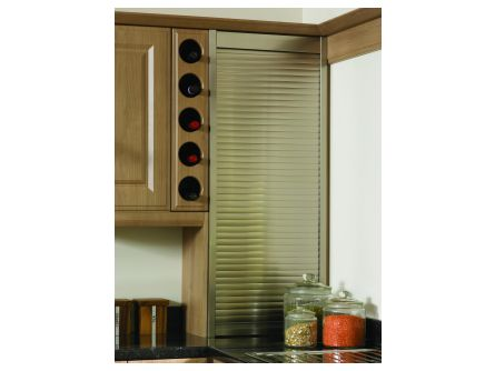 Bella 10 Bottle Round Wine Rack Front Frame