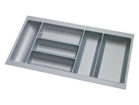 Double Drawer Plastic Cutlery Tray
