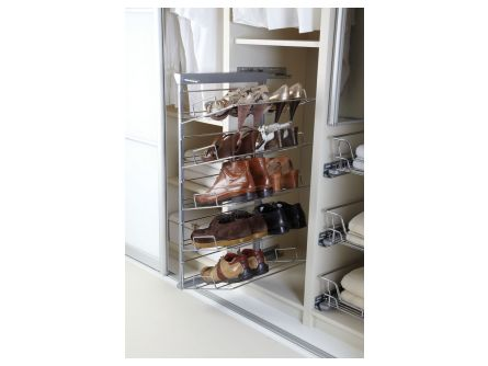 Pull-Out 5 Tier Shoe Rack