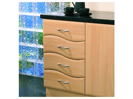 Bella 596mm Wave Design 4 Drawer Pack