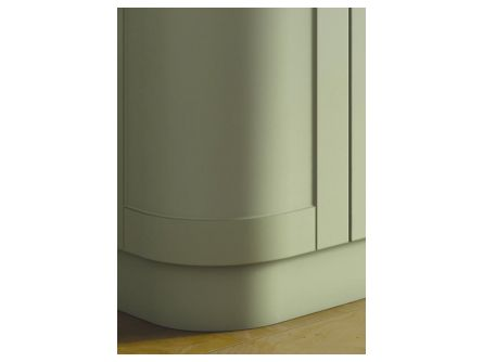 bella curved plinth - kitchen