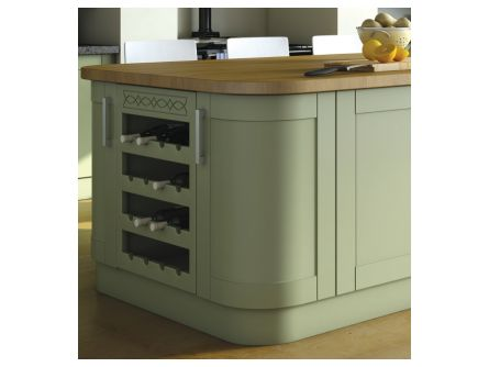 Bella Shaker Curved Kitchen Door