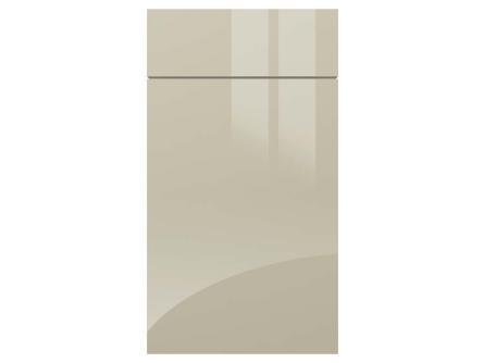 Gloss light grey gravity acrylic kitchen door