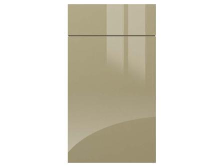 gravity gloss metallic beige kitchen door