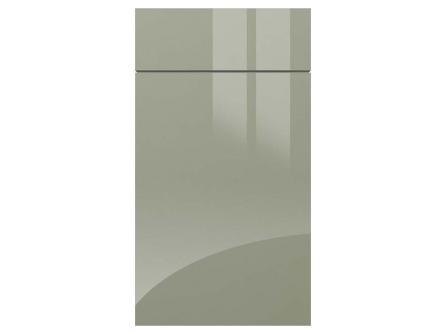 Gloss metallic blue kitchen door from Graity acrylic range