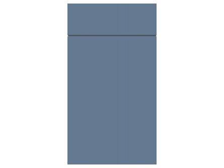 Gravity door in matt smoke blue