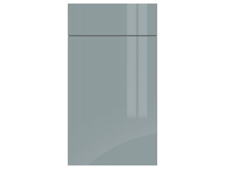 Gravity Gloss Fjord Green door and drawer