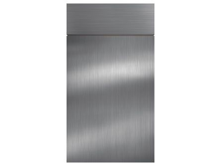 Zurfiz Brushed Metal Stainless Steel Kitchen Door