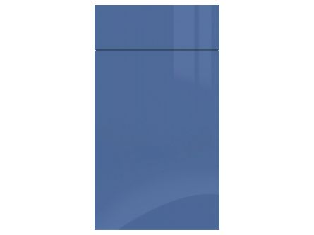 Zurfiz Ultragloss Baltic Blue kitchen cupboard door and drawer