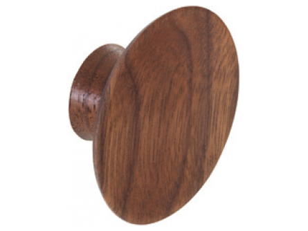 Walnut Finish Concave Knob - 50mm