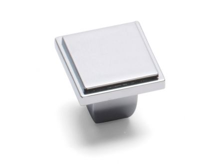 Westminster Square Knob - Chrome