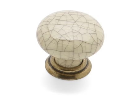 Winchester Knob & Back Plate - Antique Cream