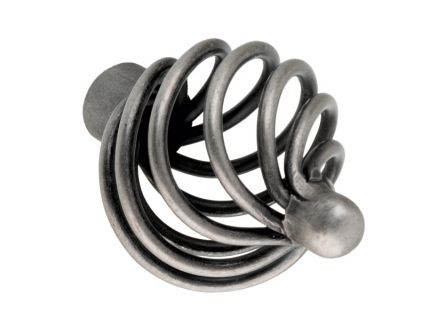 Die-Cast Iron Basketweave Kitchen Knob