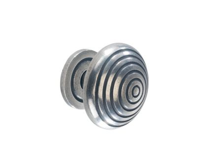 Solid Pewter Kitchen Knob with Backplate