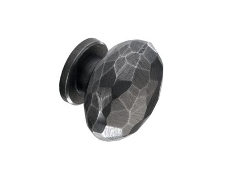 Iron Effect Forge Round Kitchen Knob