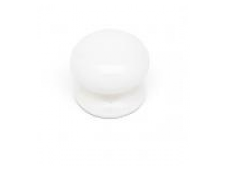White plain - knob ceramic