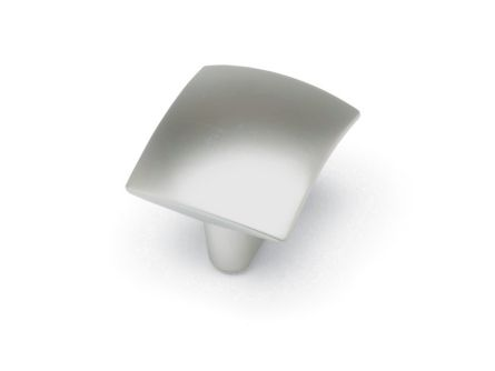 Square knob - satin chrome finish