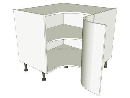 Corner kitchen base unit concave lark larks for Curved kitchen units uk