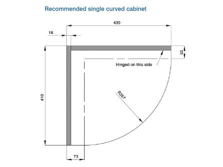 Curved Kitchen Panel Door Wall Unit - Medium