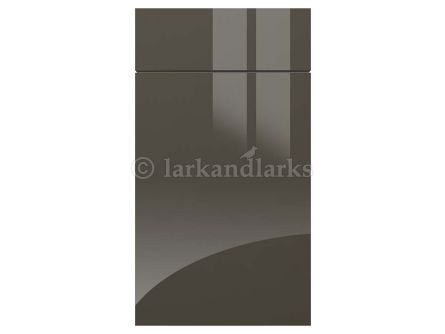 Made To Measure Gravity Gloss Dark Grey Kitchen Doors Drawers - Dark grey kitchen doors