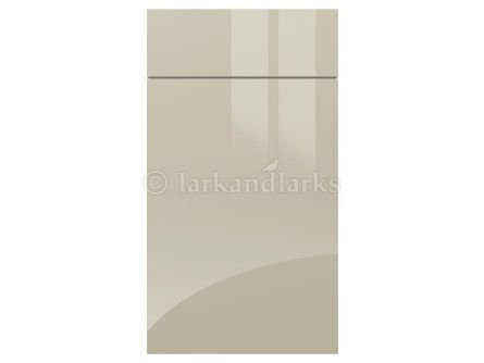 Gloss light grey gravity acrylic kitchen door