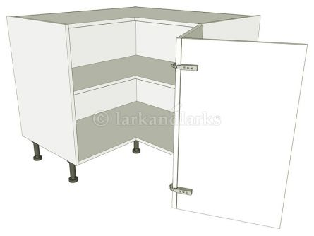 'L' shape corner base unit carcass - bi-fold