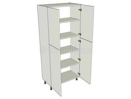 Tall Storage Unit (2150mm) - Double - shown with doors/drawer fronts