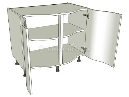 Curved kitchen base units order online lark larks for Double kitchen base unit