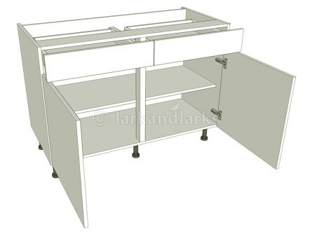 Drawerline Kitchen Base Unit - Double - shown with doors/drawer fronts