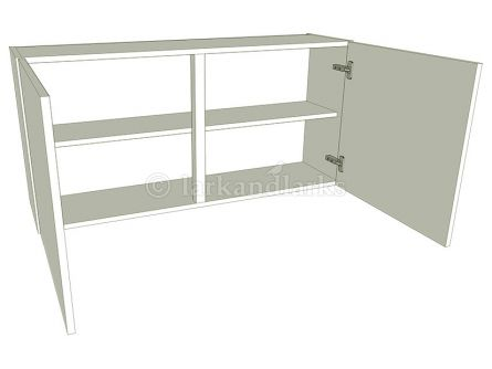 Low (575mm high) Double Kitchen Wall Unit - shown with doors/drawer fronts