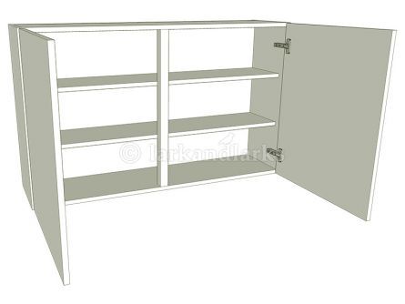 Tall (900mm high) Double Kitchen Wall Unit - shown with doors/drawer fronts