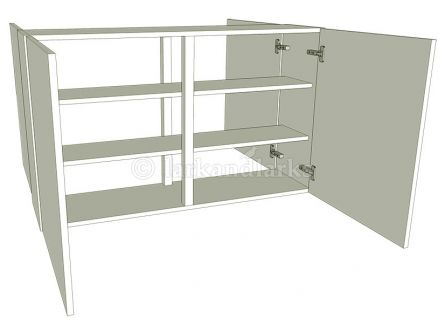 Peninsula Kitchen Wall Unit Medium Double - shown with doors/drawer fronts