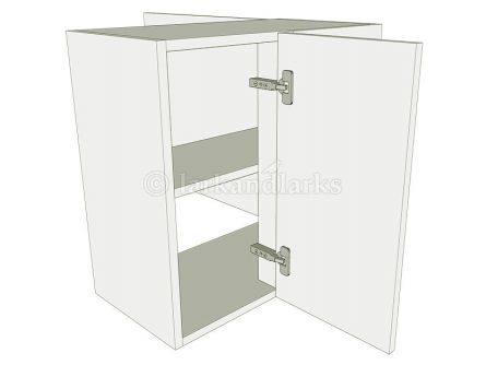 Peninsula Variable Corner Kitchen Wall Unit Low - shown with doors/drawer fronts